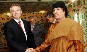 Tony Blair, pictured with Muammar Gaddafi in 2007