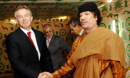 The committee regrets the failure of the UK government to exploit Tony Blair's influence with the Gaddafi regime.