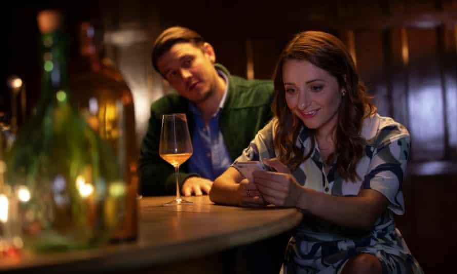 Jonathan McGovern (Ben) and Soraya Mafi (Lucy) in Scottish Opera's film of The Telephone.