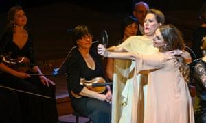 'Energised work' ... Louise Alder as Semele and Lucile Richardot as Juno in Semele.