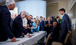Justin Trudeau with G7 leaders