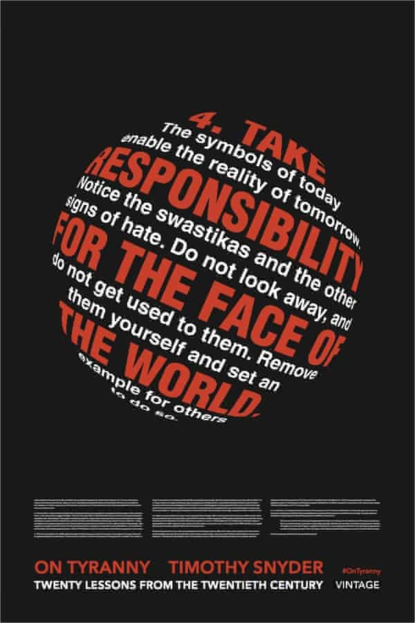 Poster four in the Timothy Snyder On Tyranny campaign.