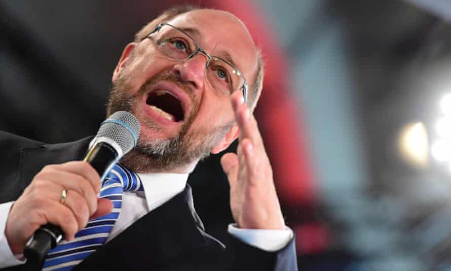Martin Schulz speaking in Berlin earlier this week.