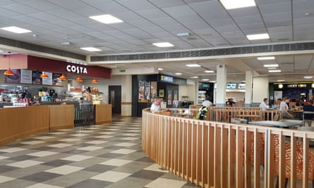 Worst motorway servicesGeneral view of a dining area at Thurrock services on the M25, which has been named the worst motorway service area in England. PRESS ASSOCIATION Photo. Picture date: Monday July 23, 2018. The service station scored a customer satisfaction rating of just 68% - the lowest in the country - in a survey by watchdog Transport Focus. See PA story TRANSPORT Services. Photo credit should read: Nick Ansell/PA Wire