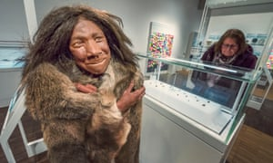 Model of a neanderthal child at St Fagans