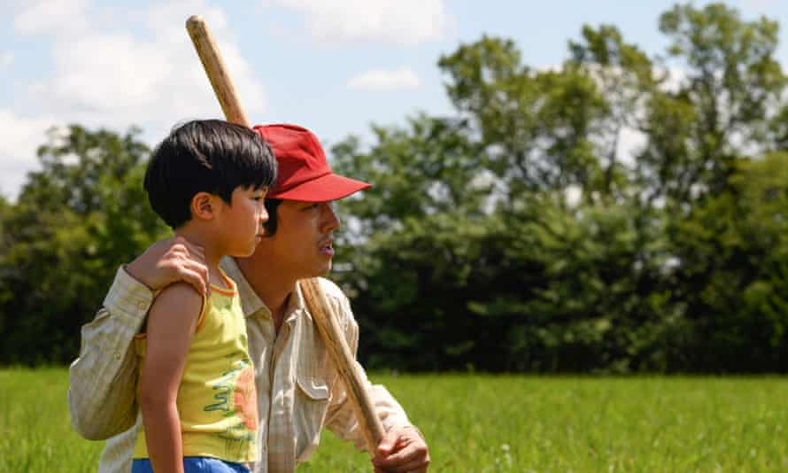 Steven Yeun and Alan S Kim in Minari, a film that has earned top reviews this year.