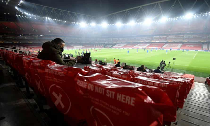 Arsenal's Emirates Stadium will be welcoming back some 2,000 fans for their Europa League tie against Rapid Vienna.