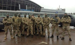 The photograph of armed men at at Borispol airport posted on Arsen Avakov's Facebook page.