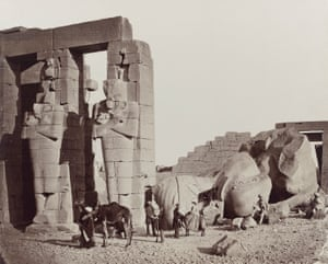 The Ramesseum of El-Kurneh, Thebes, 1857, by Francis Frith