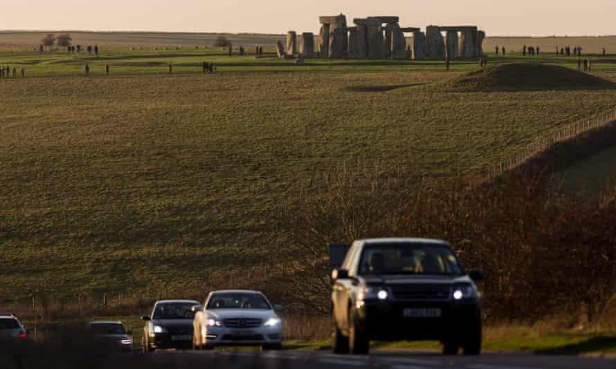 Traffic on the A303 near Stonehenge.