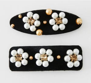 Try children's departments for budget friendly hair accessories. Hair clips, £5.99, zara.com