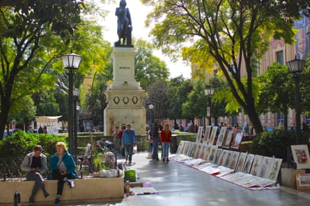 Plaza del Museo Art Market, Seville, Spain