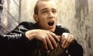 Poignantly childlike … Ewan McGregor as Renton in Trainspotting.