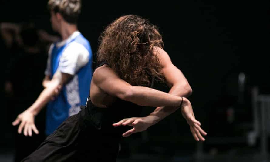 Dancers rehearse Dark Emu