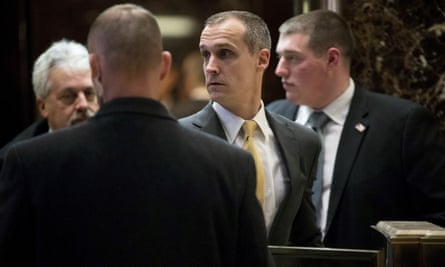 Corey Lewandowski at Trump Tower in New York City on 6 December 2016.