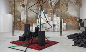 Installation view of Eva Rothschild's The Shrinking Universe at the Venice Biennale.
