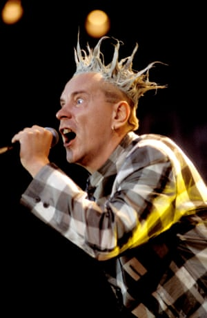 1996<br>John Lydon performing live onstage at Finsbury Park, London, on the Filthy Lucre tour