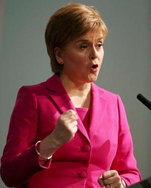 Nicola Sturgeon, Scotland's first minister.