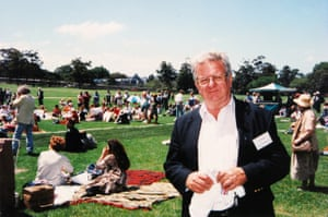 Jack Mundey at a rally concert in the Domain in 1997.