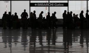 Passengers at Malpensa airport