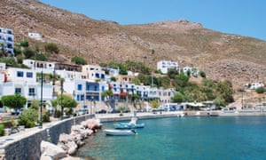 Livadia harbour on the Greek island of Tilos.