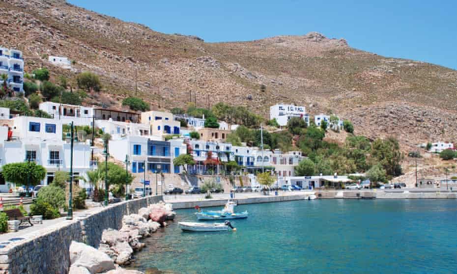Livadia harbour on the Greek island of Tilos.