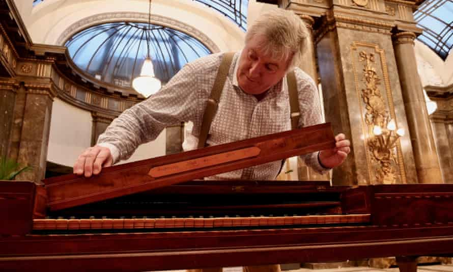 Prof Geoffrey Lancaster, an expert on the First Fleet piano, has come to the UK with the instrument