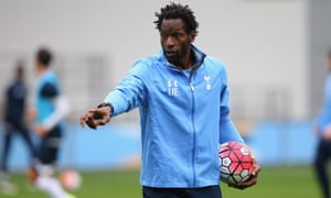 Ehiogu coaching the Spurs under-21 side.