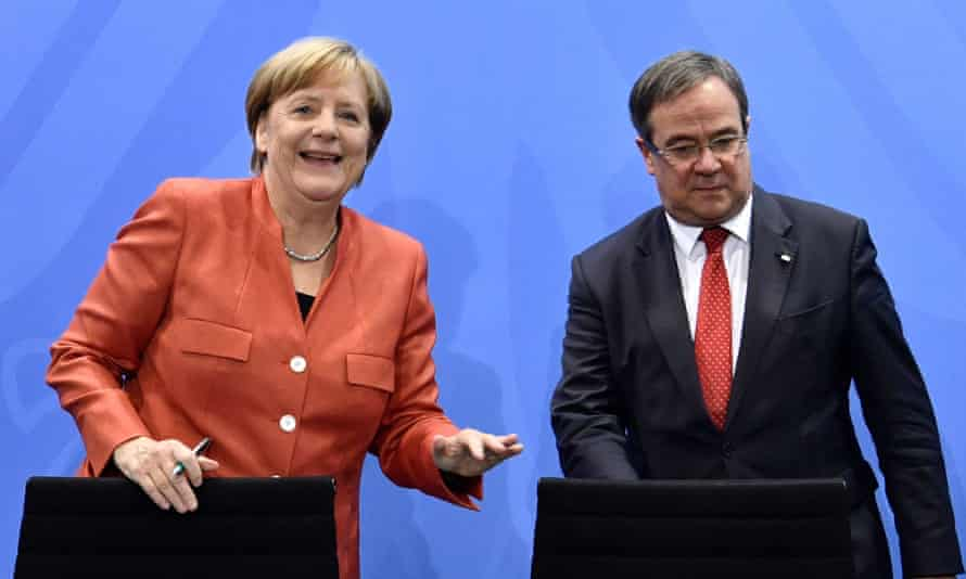 Armin Laschet with Angela Merkel in 2017.