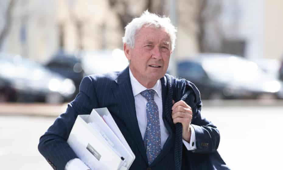 ACT barrister, lawyer and former politician Bernard Collaery arrives at the ACT courts on 16th September 2021.