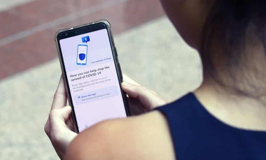 A contact-tracing app being used in Singapore. Only 17% of the population downloaded it, and its creators admit they don't know how effective it will be.
