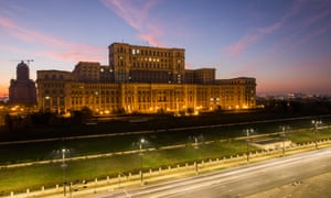 The parliament building in Bucharest.