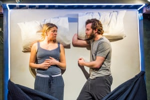 Genevieve Barr with Arthur Hughes in The Solid Life of Sugar Water at the National Theatre in 2016.