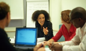 Businesswoman talking in a meeting