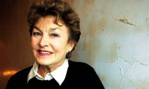 Barbara Jefford at Gainsborough Studios, where she starred alongside Fiennes in Coriolanus.