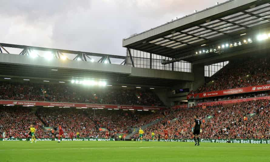 Liverpool plan to increase the Anfield Road end in order to expand the capacity of their stadium to beyond 60,000