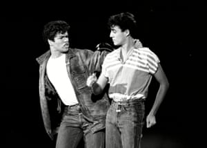 George Michael & Andrew Ridgeley of Wham! perform on TV show Solid Gold in 1982 in their first American television appearance.