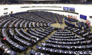 The new European commission attend a session of the European parliament in Strasbourg