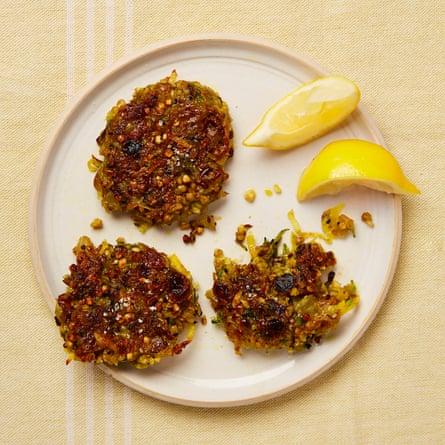 Yotam Ottolenghi's potato and buckwheat bhajis.