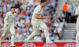 Mitchell Marsh celebrates the wicket of Sam Curran.