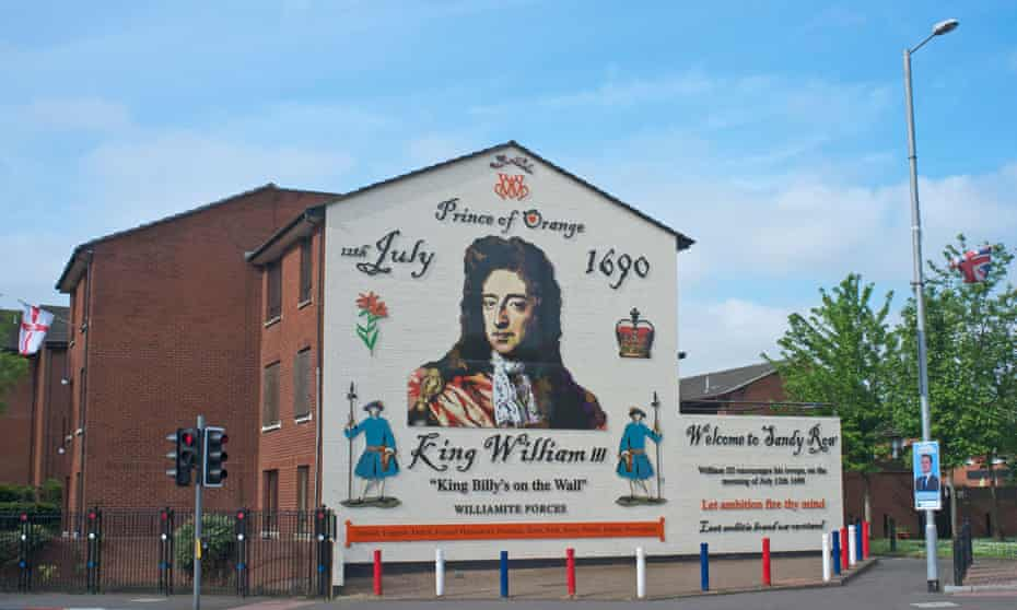 Prince of Orange mural on the end of a house in a Protestant neighbourhood in Belfast, Northern Ireland