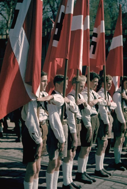 Young guns … members of the Hitler Youth.