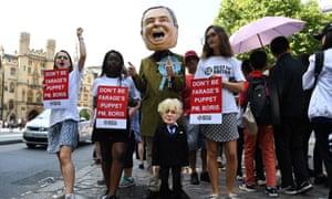 Anti-Boris Johnson protests in London