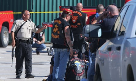 A gunfight between members of rival biker gangs in the parking lot of the Twin Peaks restaurant in Waco, Texas, on 17 May 2015 left nine dead.