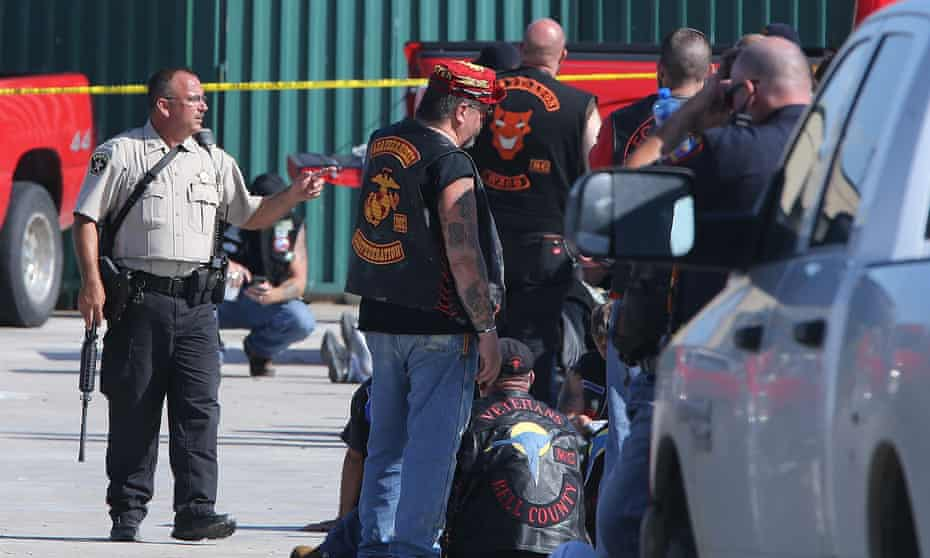 A gunfight between members of rival biker gangs in the parking lot of the Twin Peaks restaurant in Waco, Texas, on 17 May 2015 left nine dead.