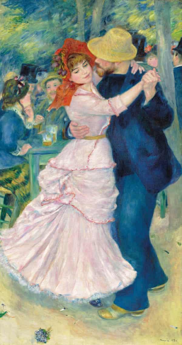 Dance at Bougival (1883) by Pierre Auguste Renoir.