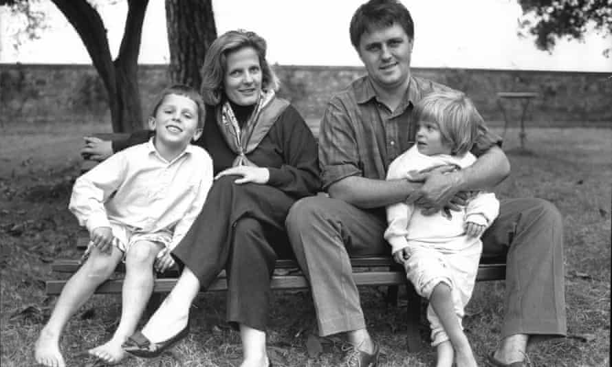 Malcolm Turnbull with wife Lucy and their family in 1988