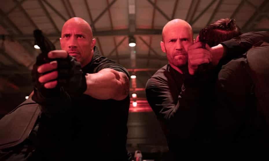 Dwayne Johnson, left, and Jason Statham, stars of Fast & Furious Presents: Hobbs & Shaw.