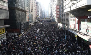 Pro-democracy protesters rally in Hong Kong