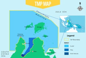 A map of the new Tun Mustapha marine protected area